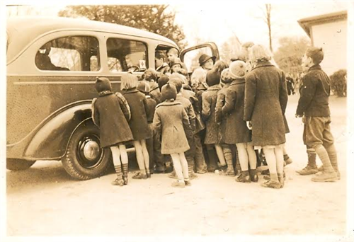 Anne E. Moncure with Mobile Library 1
