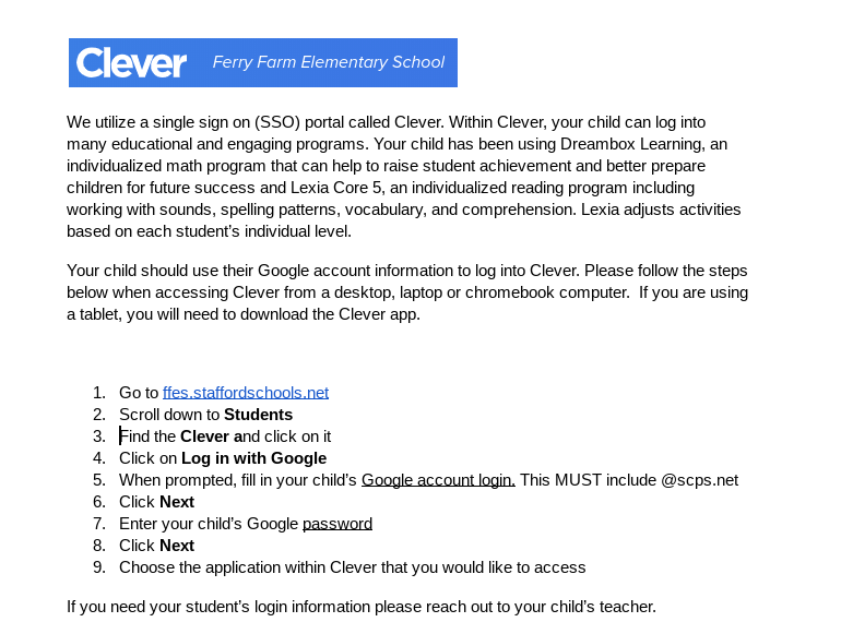 How to access Clever