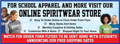 Park Ridge Spirit Wear Online Store