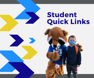 student and mascot