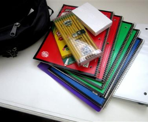 Pile of School Supplies