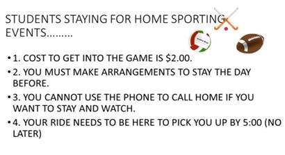 Home Sporting Events