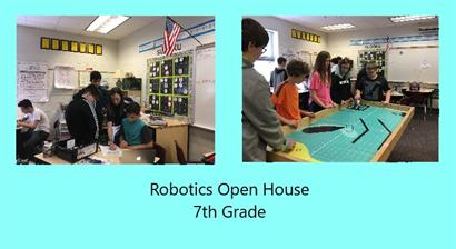 Photo of 7th grade robotics open house