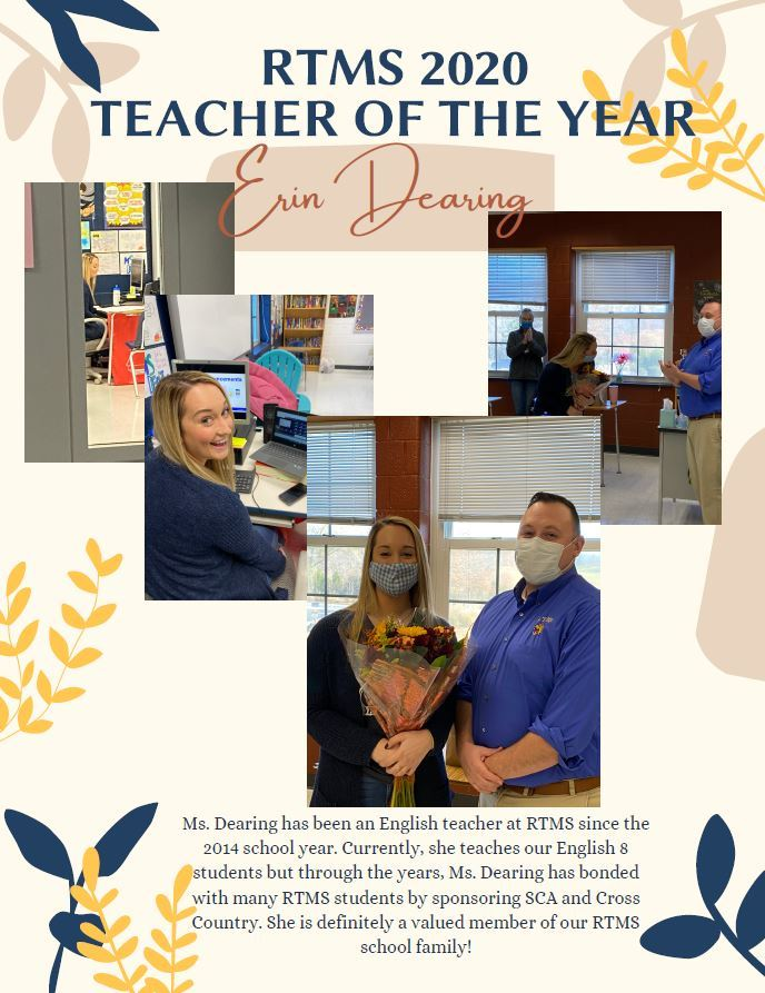 RTMS 2020 Teacher of the Year!