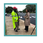 Crossing Guard and Reporter