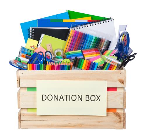 School Supply Donations Accepted Now