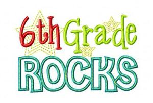 6th Grade Rocks graphic