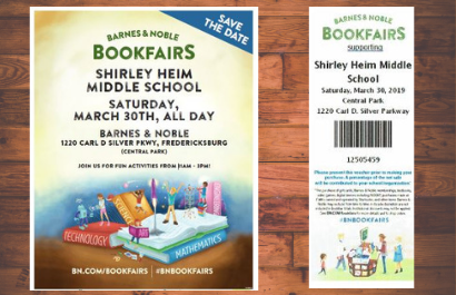 Barnes and Noble Fundraiser March 30th all day!