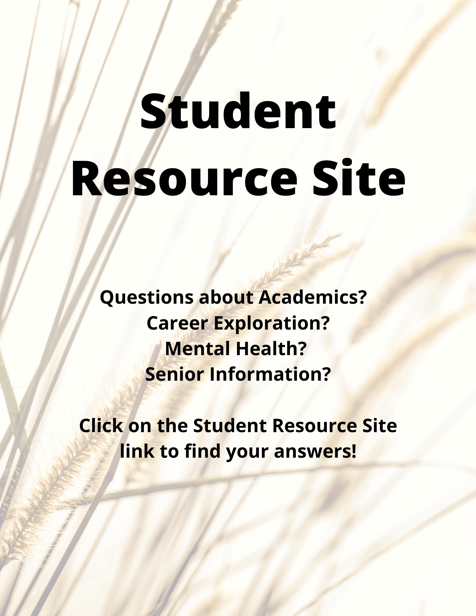 Student Resource Site