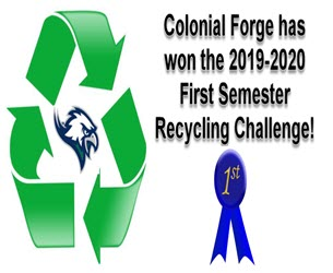 Colonial Forge Wins Recycling Challenge