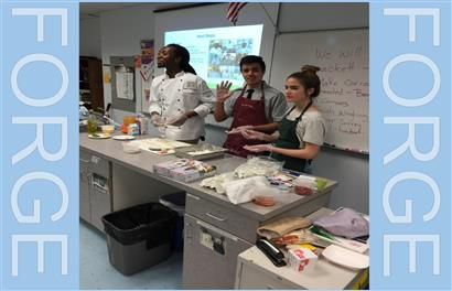 Culinary Institute of Virginia Visits Forge