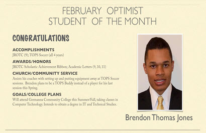 Feb student of the month