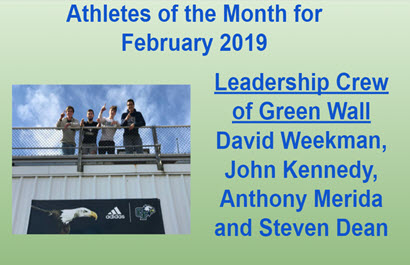 Green Wall Leaders AOM Honors for February 2019