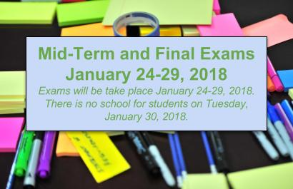 Mid-Term and Final Exams Schedule