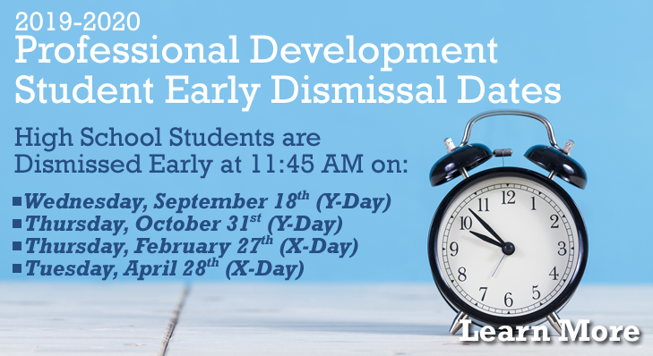 Professional Development Student Early Dismissal Dates