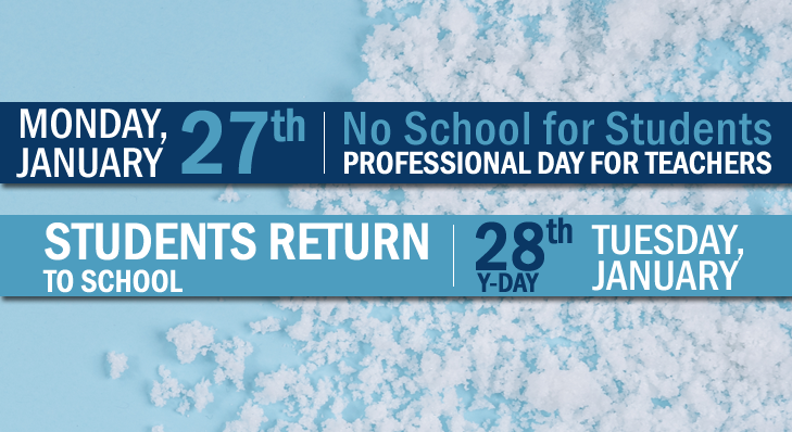 Professional Day on Monday, January 27, 2020