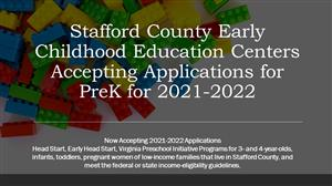 Early Childhood Education Centers Accepting Applications for PreK for 2021-2022
