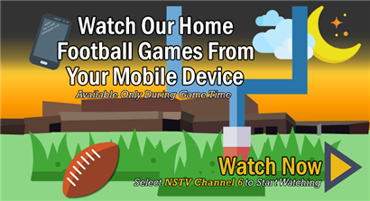 Watch Our Home Football Games From Your Mobile Device