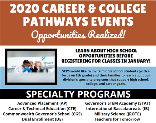 2020 Career & College Pathways Events Opportunities Realized!