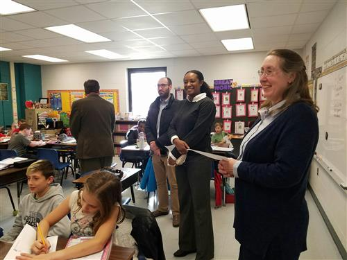 Dr. Sarah Chase and Jennifer Carroll Foy in Classroom