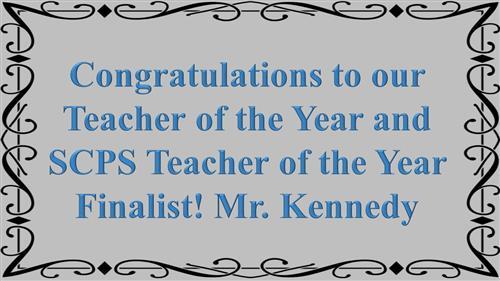 Spartan Teacher of the Year / 2017-2018 Teacher of the Year - SMS