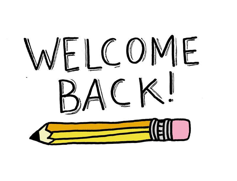 Welcome Back Pencil